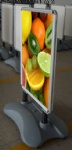 New arrival 100% waterproof quality portable aluminum water base poster stand with moveable