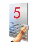 aluminium sign, office sign, door signs, room directory sign, sliding sign